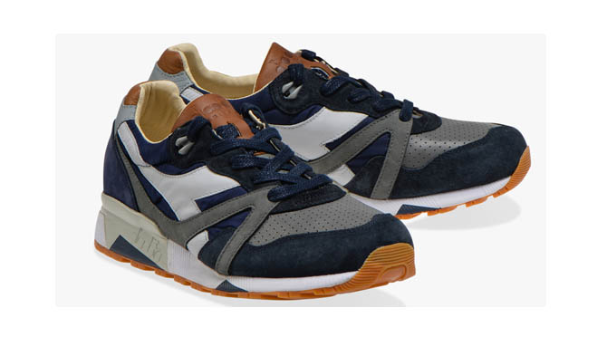 Scarpe Diadora N9000 H ITA Blue Nights Charcoal Gay